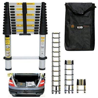 ANSI-330LBS-125FT-Telescoping-Aluminum-Extension-Telescope-Ladder-w-Carry-Bag-by-Sawan-Shop