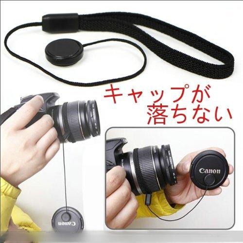 COCO Camera カメラ レンズ キャップ 落下 防止 ストラップ 簡単 ワンタッチ Canon Nikon PENTAX Panasonic OLYMPUS SONY