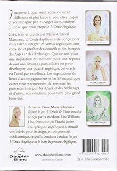 Livres Couvertures de L'Oracle Angélique - Jeu de 50 cartes et livret d'accompagnement