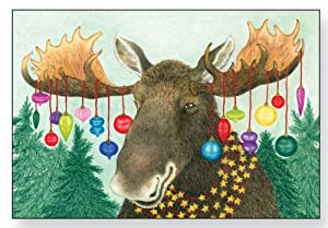 Bright Moose Christmas Cards Home Amp Kitchen
