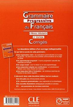 Livres Couvertures de Grammaire progressive du français - Niveau débutant - Corrigés - 2ème édition
