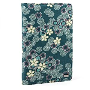 JAVOedge Cherry Blossom Book Case for the Barnes & Noble Nook Color (Ocean Blue) - Latest Generation