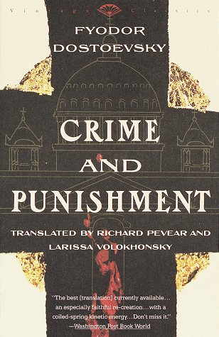 One of many covers for Crime and Punishment. Thanks to Amazon.com for the use of this image.