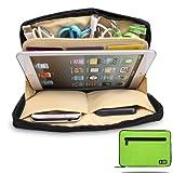 Damai Portable Universal Electronics Accessories Travel Organizer /Ipad Mini Case / Cable Organizer Bag / Makeup Bag (3-green)