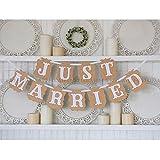 Lumierechat JUST MARRIED パーティー用 ガーランド ウエディング 結婚式 撮影 アイテム ベージュ