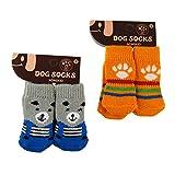 Pawliss 2 Pairs Dog Socks Paw Protector Small