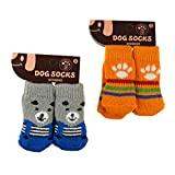 Pawliss 2 Pairs Dog Socks Paw Protector Small