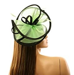 Feathers 3 Tier Layer 2 Tone Headband Fascinator Millinery Cocktail Hat Lime
