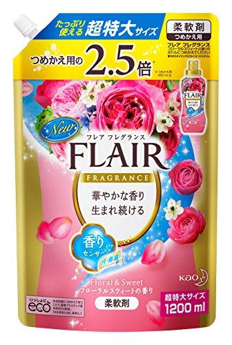 【大容量】フレアフレグランス 柔軟剤 フローラル&スウィートの香り 詰替用 1200ml 514yG29bRbL