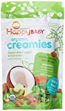 Happy Baby Organic Creamies Freeze-Dried Veggie & Fruit Snacks with Coconut Milk, Apple, Spinach, Pea & Kiwi, 1 oz (Pack of 8)