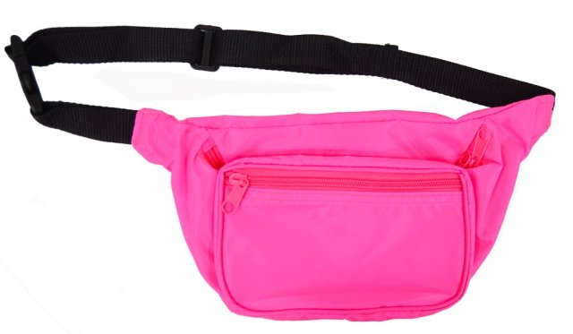 Neon Fanny Pack (Blank)  Also available in Neon Green, Orange, and Yellow