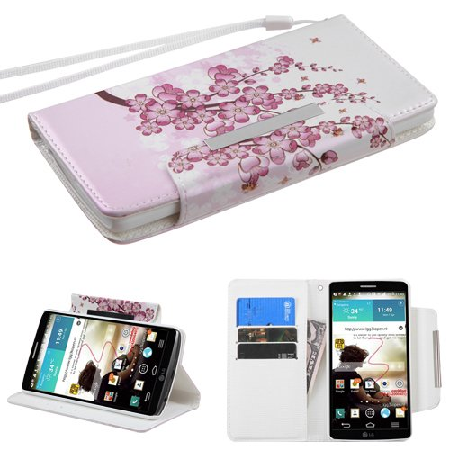 MyBat My Jacket Wallet Case for LG G3 - Retail Packaging - Spring Flowers