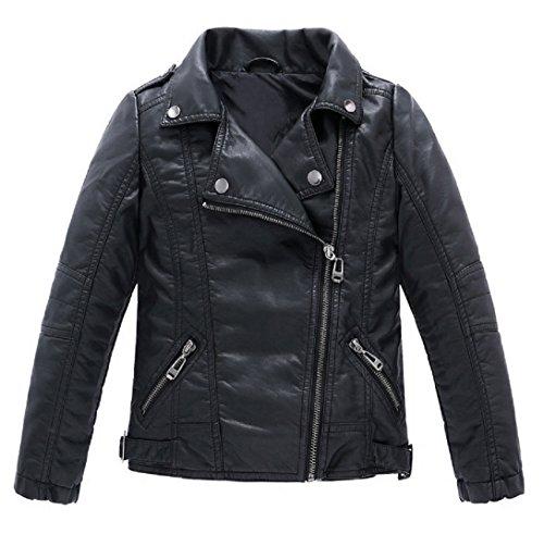 Josie & Connie Boys Girls Unisex Faux Leather Moto Jacket,Winter,Spring (12 / 55