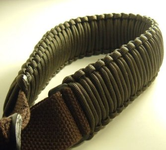 550 lb Paracord Survival 2-Point Gun/Rifle Sling (Dark Brown, 1.25