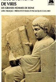 Livres Couvertures de De Viris : Les Grands Hommes De Rome