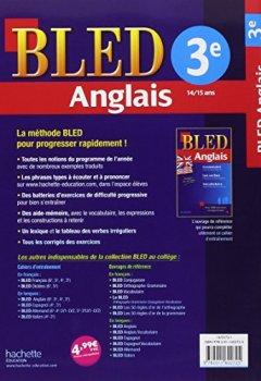 Cahier Bled - Anglais 3ème - 14-15 Ans