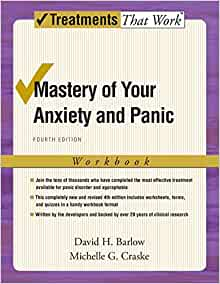 Amazon Mastery Of Your Anxiety And Panic Workbook