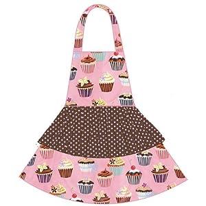 asd Living Jessica Apron with Cupcakes Design