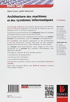 Livres Couvertures de Architecture des machines et des systèmes informatiques - 5e éd.
