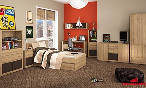Jugendzimmer Kinderzimmer 17801 komplett 9-teilig wildeiche - Farbe Frontapplikation wählbar