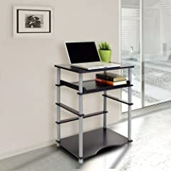 Furinno 99722BK/GY (10016BK/GY) Computer Desk, Black and Grey Finish