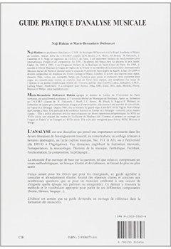 Livres Couvertures de Guide pratique d'analyse musicale : Cours - Lexique illustré - Tableaux