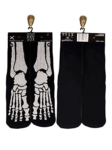 Odd Sox Glow-in-the-Dark Skeleton Sox, Sizes 6-13