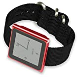 iPod Nano Watch Band - Black Nylon