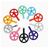 Inbike Fixed Gear Bike 44T High Strength Steel Crankset Color Pink