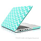 TopCase Chevron Series Hot Blue / Turquoise Ultra Slim Light Weight Rubberized Hard Case Cover for Macbook Pro 13-inch 13