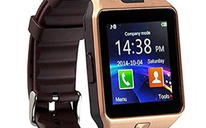 Qiufeng Dz09 Bluetooth Smart Watch SmartWatch with Camera for Iphone and Android Smartphones(Golden)