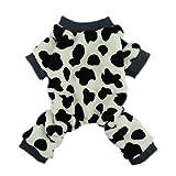 Fitwarm® Adorable Milk Cows Pet Dog Clothes Comfy Velvet Winter Pajamas Coat Jumpsuit, Medium