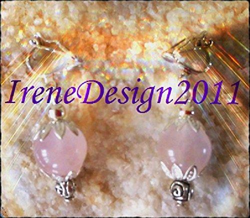 Rose Quarts & Rose Earrings.