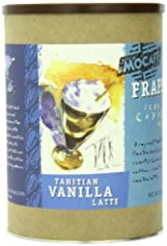 MOCAFE Frappe Tahitian Vanilla Latte, Ice Blended Coffee, 3-Pound Tin