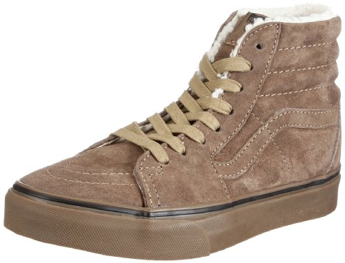 Vans U SK8-HI (Fleece)tk/dgum VKYAL7Z, Unisex - Erwachsene Sneaker, Braun (Fleece) teak/dark gum), EU 46