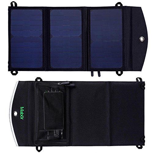 Mabor ソーラー充電 ソーラーチャージャー 折りたたみ式 2ポーチ Apple  Androidに対応
