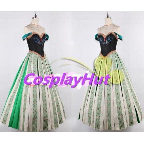 CosplayHut コスプレ衣装 映画 Frozen アナと雪の女王 プリンセス 戴冠式 Anna アナ ドレス、レディーズ、XSサイズをAmazonでチェック!