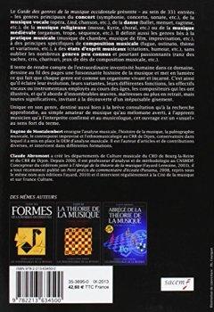 Livres Couvertures de Guide des genres de la musique occidentale
