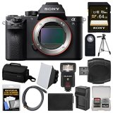 Sony-Alpha-A7S-II-4K-Wi-Fi-Digital-Camera-Body-with-64GB-Card-Case-Flash-Soft-Box-Battery-Charger-Tripod-Kit