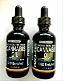 PEPPERMINT HEMP ORGANIC EXTRACT VIRGIN OIL 1 GLASS BOTTLE WITH DROPPER WITH 2 OZ - 2 GLASS BOTTLE WITH DROPPER