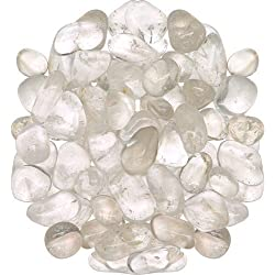 "1lb Tumbled Clear Quartz Stone Large 1""+ Polished Crystal Healing *Wholesale Bulk Pound Lot*"