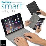 iPad mini 用 カバー&キーボード Bookey smart (ブラック) 保護カバーとキーボードが今ひとつに!! iPad mini・mini2(Retina)・mini3 対応【JTTオンラインオリジナル商品】
