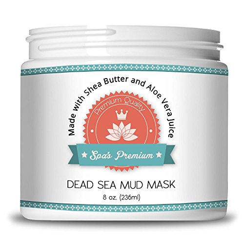 Spa's Premium Dead Sea Mud Mask 8oz for Facials and Body Mask - Clears Acne, Anti-Aging Mask - Exfoliate Your Skin, Pores and Acts As A Naturally Moisturize - Six All Natural All Organic Extracts and Oils with No Artificial Preservatives - Get The Only Dead Sea Mud Mask With Organic Aloe Vera Juice, Organic Jojoba Oil, Organic Sunflower Oil, Organic Hickory Bark Extract, Organic Calendula Oil, and Organic Shea Butter To Help Reinvigorate Your Skin