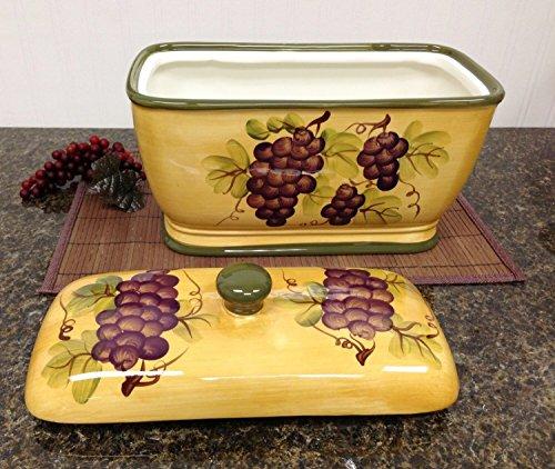 Apple Ceramic Bread Box