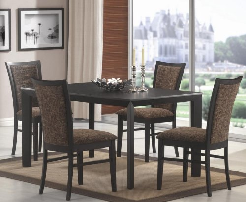 Buy Low Price Coaster 5pc Dining Table and Chairs Set in Black Finish VF_Dinset102201102202