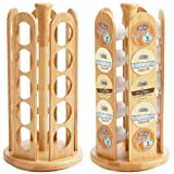 HealthSmartTM 25-Hole Brewing Cups Rotating Bamboo Rack
