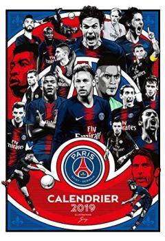 Livres Couvertures de Calendrier du PSG 2019