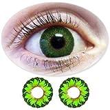 Farbige Kontaktlinsen Monatslinsen Fun Picasso Green /Grüne ohne Stärken / Dioptrien