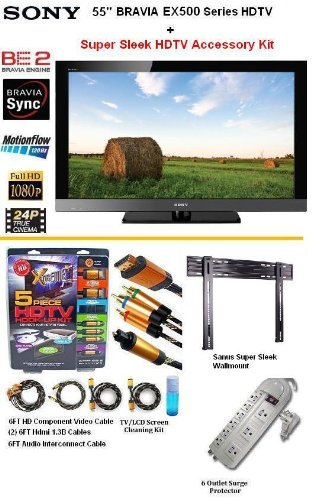 brand new sony bravia kdl-55ex500 series hdtv 1080p lcd hdtv