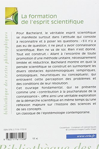 Bachelard La Formation De L'esprit Scientifique Pdf : bachelard, formation, l'esprit, scientifique, Télécharger, Formation, L'esprit, Scientifique, Gratuit, Gaston, Bachelard, TELECHARGER, EXPRESS, FICHIER